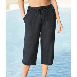 Swimsuits For All Taslon Nylon Capri Coverup Pants